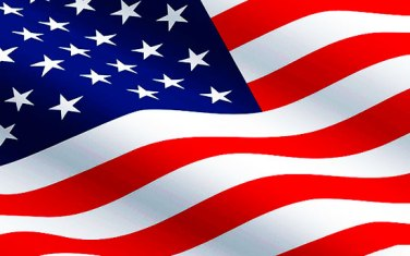 American flag clip art to accompany article on register to vote