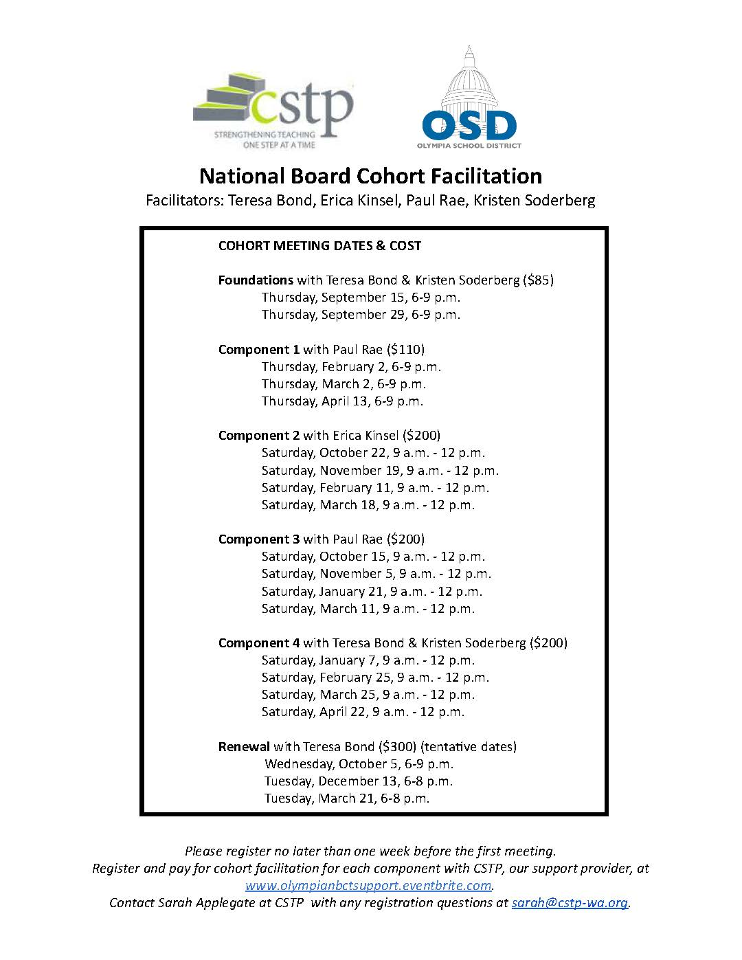 Learn About National Board Certification On September 13 At Olympia