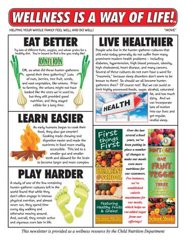 Wellness is a Way of LIfe! newsletter