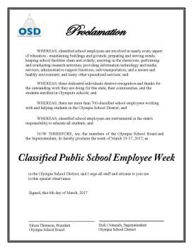 Proclamation 030617 Classified School Employee Week OSD original