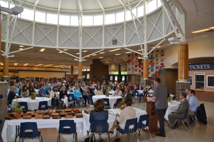 Employees gather for the 2016 Annual Ice Cream Social