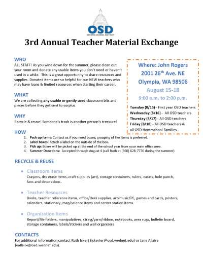 UPDATED 3rd Annual Teacher Material Exchange (1)
