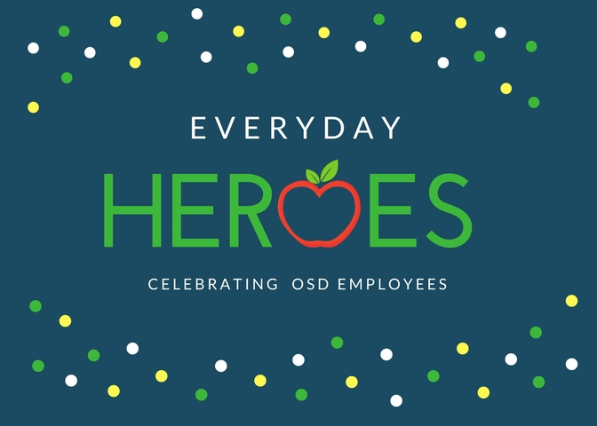 Everyday Heroes Logo with the words: Celebrating OSD Employees
