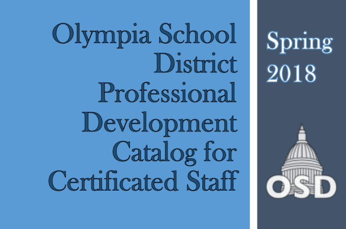 Front cover of new OSD Professional Development Catalog for Certificated Staff