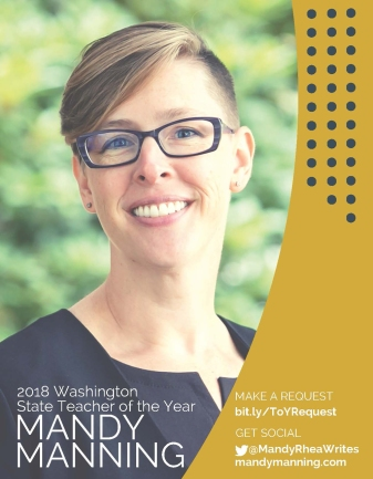2018 Mandy Manning State Teacher of the Year links