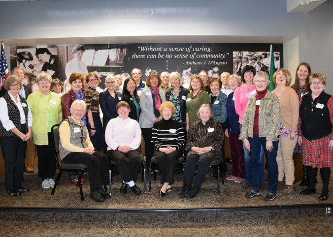 Retired teachers pose for group photo after 2nd Annual OSD Retired Educators Luncheon at Knox