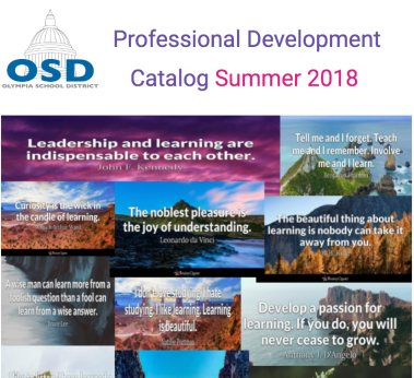 Front cover of Professional Development Catalog Summer 2018
