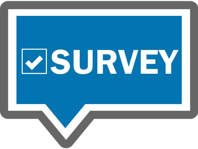 "Sign with white letters that read ""Survey"" with a checkbox checked next to the words"