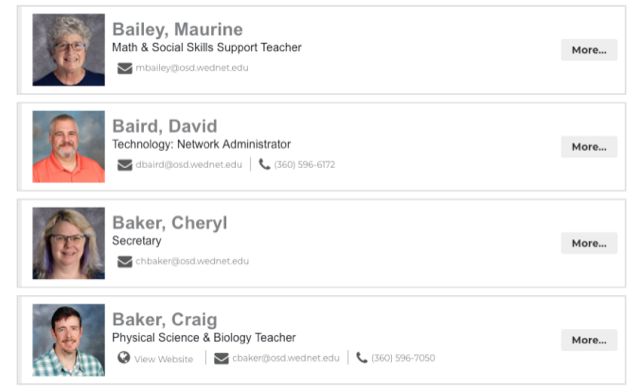 Olympia School District Staff Directory