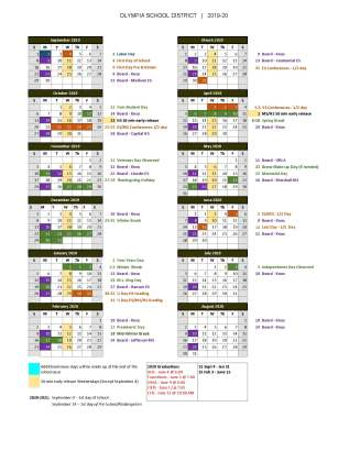 Olympia School District Calendar.2019 20 School Year Calendar Is Posted On District Website Here S