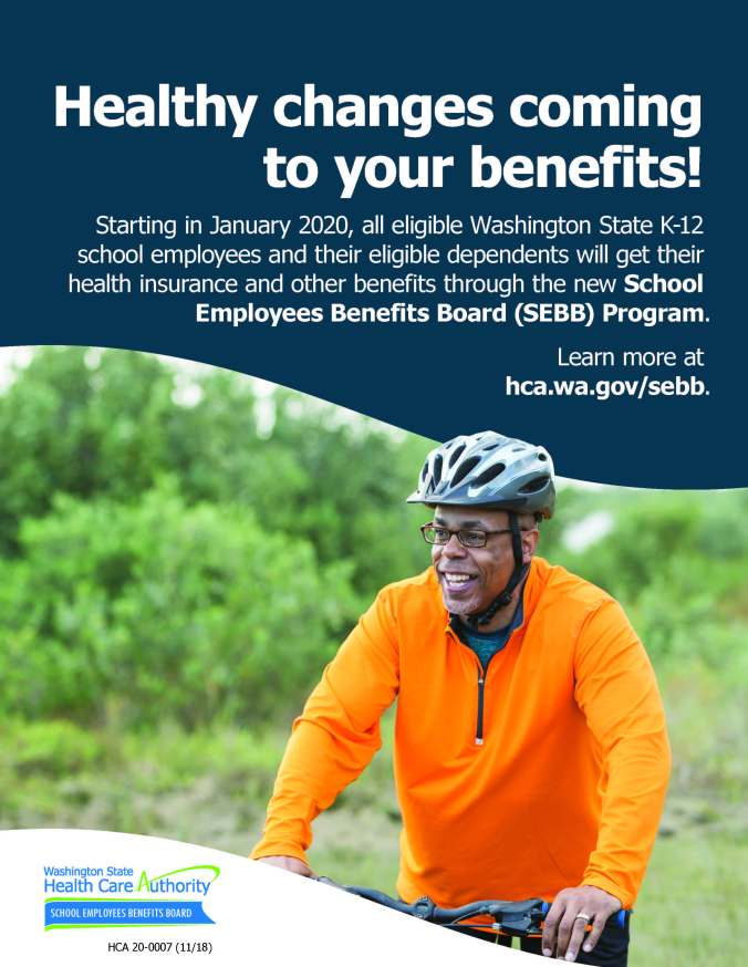 Person riding bike with information in post about health changes coming to employee benefits (SEbb)