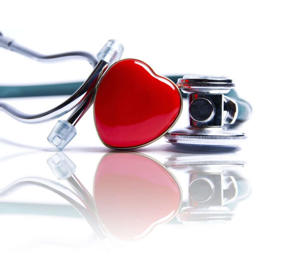 Stethoscope with heart-shaped center design