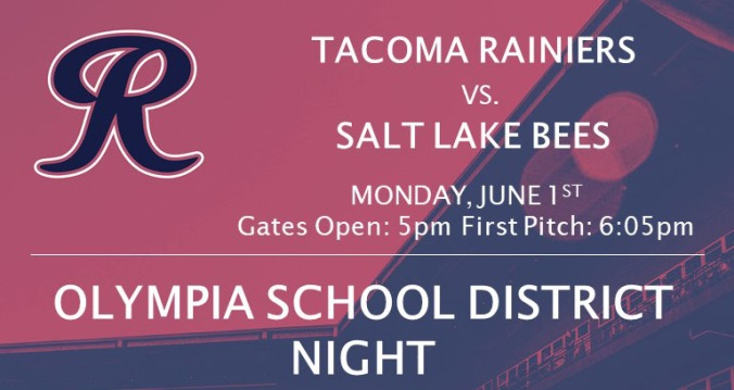 OSD Night at the Rainiers graphic; information such as date and time are included in the article