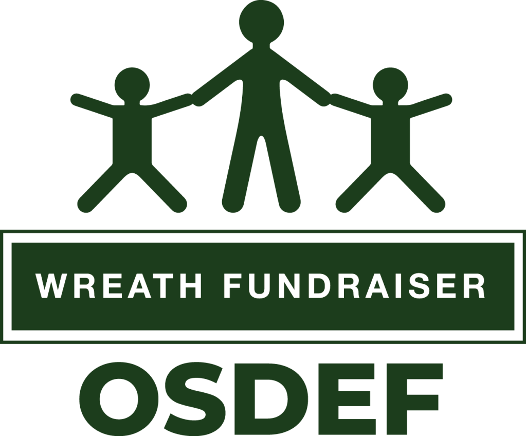 OSD logo in green with the words Wreath Fundraiser OSDEF underneath