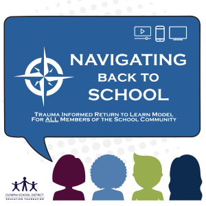 Navigating Back to School logo showing outlines of children's heads with OSDEF logo in corner